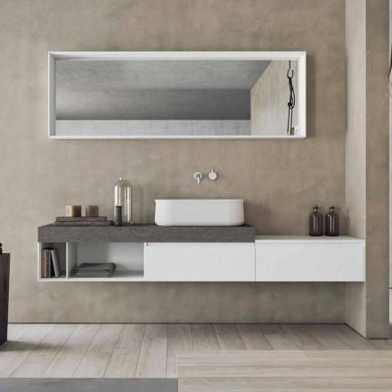 Compoziție modernă și suspendată a mobilierului de baie de design - Callisi2
