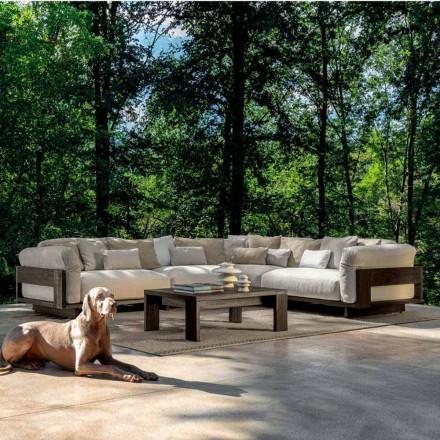 Compoziție pentru exterior cu canapea de colț de lux din lemn - Argo de Talenti