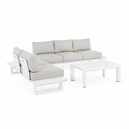 Compoziție cameră de zi în aer liber din aluminiu și țesătură, Homemotion - Francine