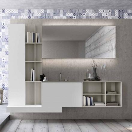 Compoziție de mobilier de baie suspendat cu design modern Made in Italy - Callisi15