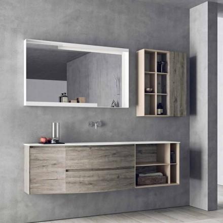 Compoziție de proiectare suspendată, mobilier de baie cu design modern - Callisi5