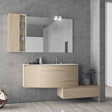 Compoziție suspendată și modernă pentru baie, design Made in Italy - Callisi4