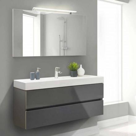 Dulap de baie de 140 cm, lavoar și oglindă - Becky