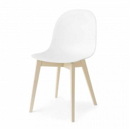 Connubia Calligaris Academia scaun de design de bază în lemn, 2 bucăți
