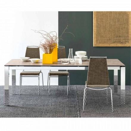 tabel Connubia Calligaris Baron masă ceramică-sticlă, L130 / 190