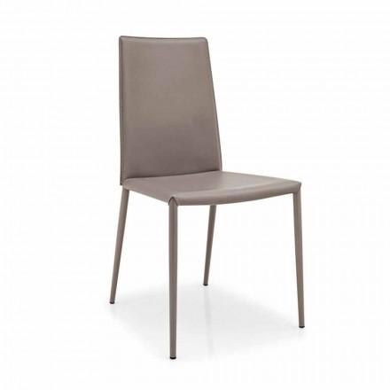 scaun de piele Connubia Calligaris Boheme, din metal modern, 2 bucăți