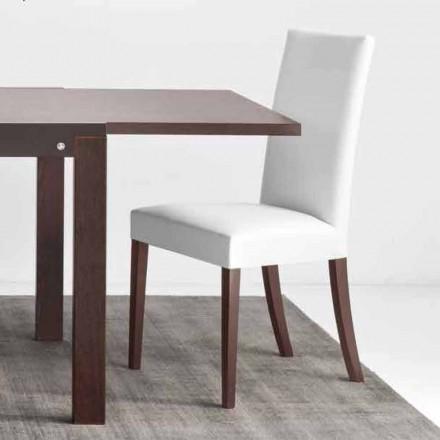 Connubia Copenhaga Calligaris scaun din piele faux si lemn, 2 bucati