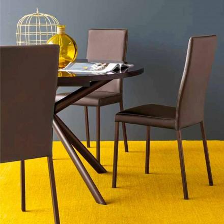Connubia Calligaris Garda scaun modern din țesături și din metal, 2 bucati