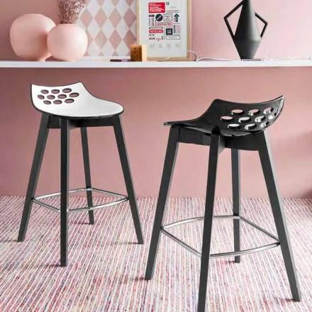 scaun Connubia Calligaris Jam W de design modern din lemn, 2 bucăți