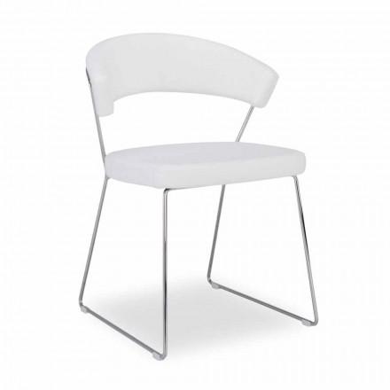 Connubia New York Calligaris scaun din piele de design modern, 2 bucăți