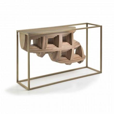 Console în design din lemn de nuc de lux si metal Pardo