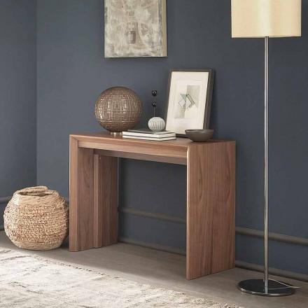 Consolă de masă extensibilă Până la 295 cm în lemn Design Made in Italy - Temocle