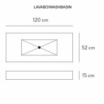 Consol de baie lavoar integrat și raft suspendat în 4 finisaje Gres - Rampina