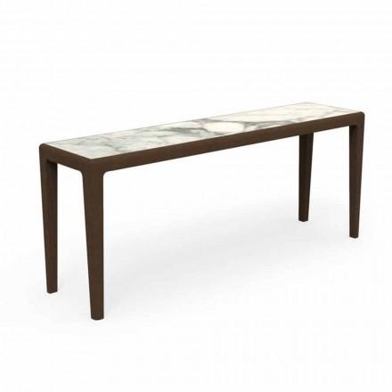 Consola moderna in aer liber din lemn de tec si gresie Capraia - Cruise Teak Talenti