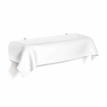Consola design modern în plexiglas alb drapat dorințe