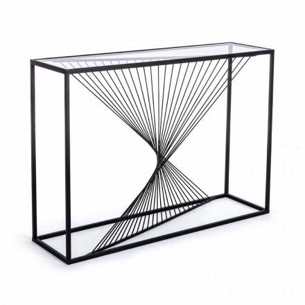 Consolă din oțel și sticlă Design modern Spiral original - Sasuke