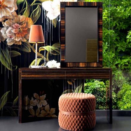Grilli Zarafa consola moderna din lemn de abanos din Italia