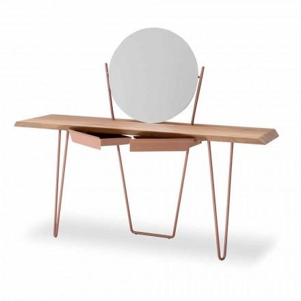 Consola moderna din lemn si metal realizata in Italia - Coseno Plus