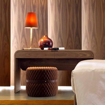 Design Grilli York realizat în Italia masă de consolă din lemn masiv