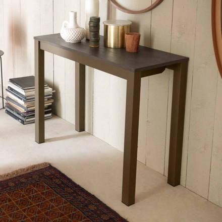 Consolă de masă modernă extensibilă din lemn de stejar și metal fabricat în Italia - Nappo