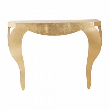Consolă modernă din frunze de aur sau argint fabricate în Italia - Daledale