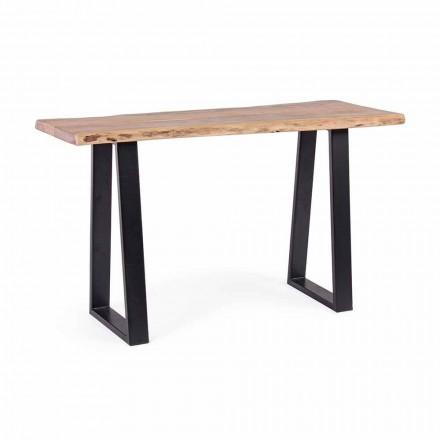 Consolă modernă în lemn de salcâm și oțel Design Homemotion - Teresanna