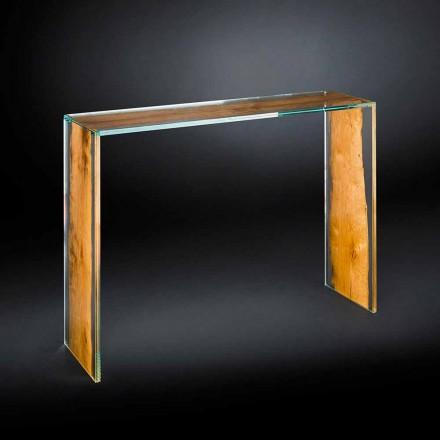 Consola modernă din sticlă și lemn Veneția venețian Briccola