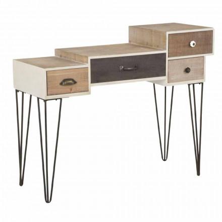 Consola cu sertare Stil industrial modern din lemn și metal - Lille