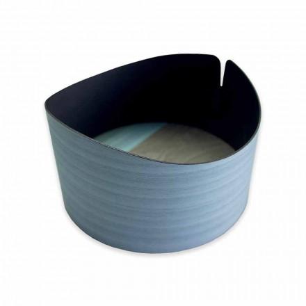 Cutie circulară modernă din lemn real fabricat în Italia - Stan