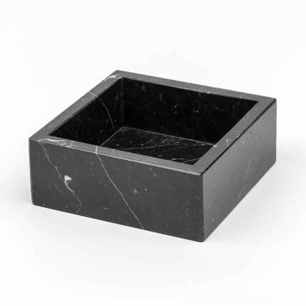 Recipient pătrat în marmură Carrara sau Marquinia Made in Italy - Torre