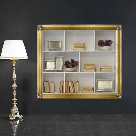 Wall-bibliotecă din lemn geloton produs în Italia Giulio