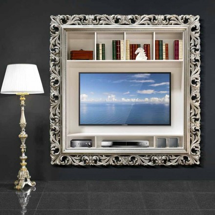 TV rama de perete din lemn lucrate manual în Italia Mario