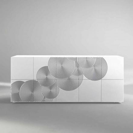 Comoda cu Slate 10 ante, design modern, alb, negru sau auriu