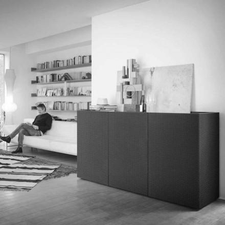 Credința design modern, negru, cu 2 usi si sertar smulgere Flora