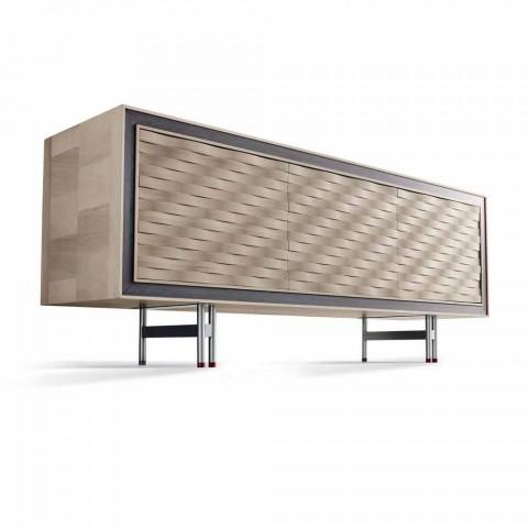 Credința de design modern din lemn masiv, L192 x D 50 cm, Teresa