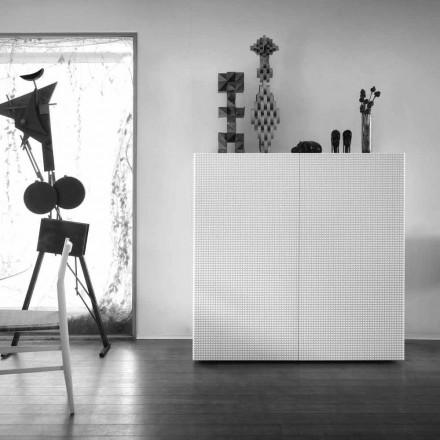 sideboard Design cu 2 usi model alb, negru sau auriu Flora