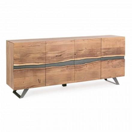 Buffet din lemn și oțel vopsit Design modern Homemotion - Silvia