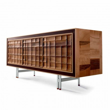 Dulăpior Design modern cu 3 usi din lemn masiv Anna