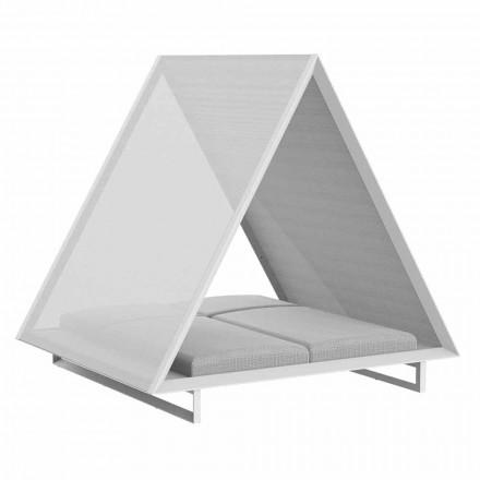 Pat de zi în exterior din țesătură de aluminiu și design de lux - Frame Vineyard de la Vondom
