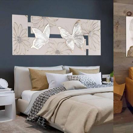 Pictura pictata manual cu dublu-elle cu fluturi facuta in Italia Martina