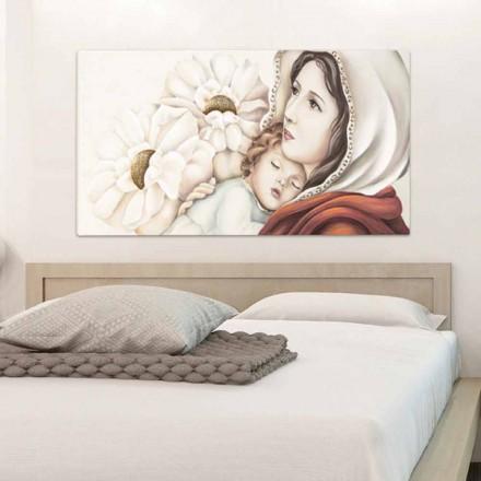 Pictura mama moderna cu decoratiuni pentru copii din frunze de aur Scott