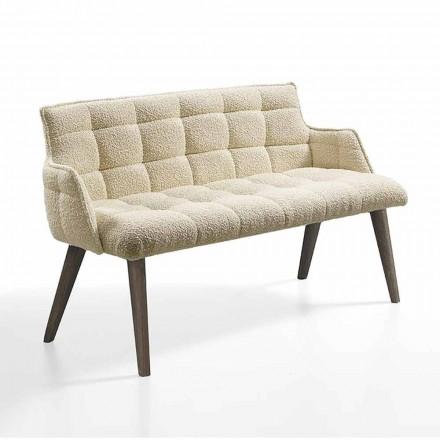 Canapea de lux cu scaun acoperit din țesătură Made in Italy - Clera