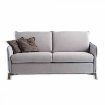 2 locuri maxi L.165cm imitație de piele / material textil made in Italy Erica