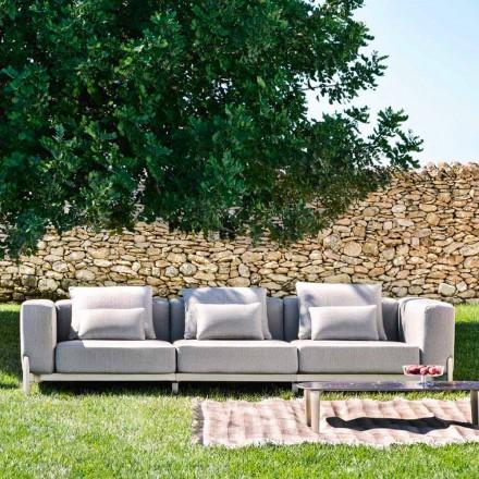 Canapea de exterior cu 3 locuri din aluminiu și țesătură de înaltă calitate - Filomena