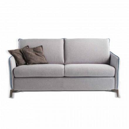 Canapea 3 locuri de proiectare L.185cm tesatura / piele faux made in Italy Erica