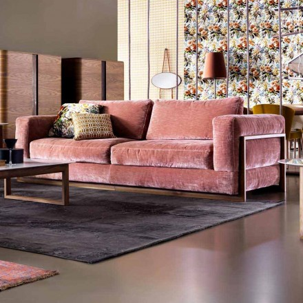 Canapete de design Grilli York cu trei locuri, fabricate în Italia