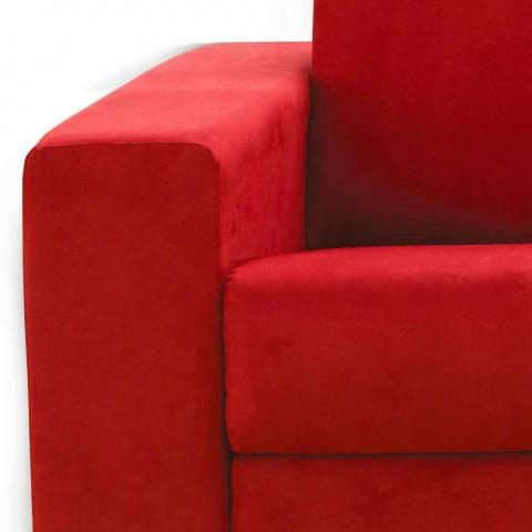 3 locuri maxi design modern faux piele / material textil made in Italy Mora