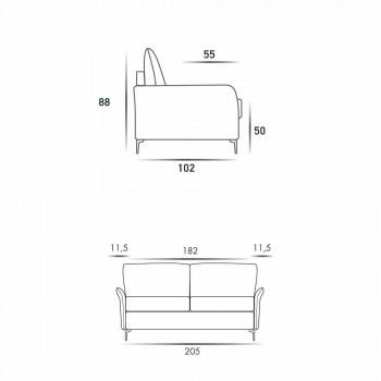 3 locuri maxi L205 cm moderne de design din piele faux / tesatura Erica