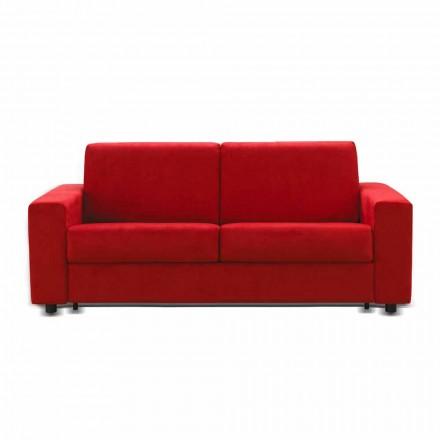 Canapea 2 locuri Mora, fabricată în Italia, tapițerie din țesătură / piele