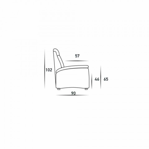 2 locuri canapea design modern din piele, piele sau material textil faux Gelso